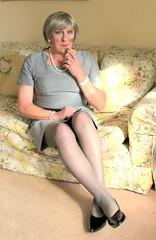 Helengrydrssit-002 (fionaxxcd) Tags: crossdressing crossdresser transvestite tranny trannie m2f mft gurlboigirlboy stilettos pearls bust legs lipstick greiryhair