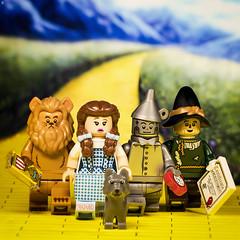 Wizard of Oz (Jezbags) Tags: wizard oz 1939 wizardofoz canon canon80d 80d 100mm closeup macro macrophotography macrodreams macrolego lego legos toy toys lion dorothy tinman scarecrow dog yellowbrickroad