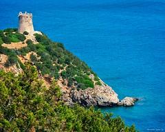 Sardinia old Watch Tower (al.scuderi71) Tags: sardinia coast coastline sea seascape landscape kodak on1photoraw2018 on1photo on1pics nature sky water italy rocks italia sardegna blue green alghero
