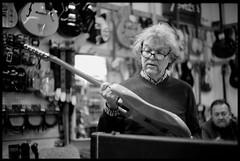 At the guitar shop (Micke Borg) Tags: 125 rodinal fp4 ilford 14 50mm ltm canon m3 leica gitarrtorget sankteriksgatan kungsholmen sverige sweden stockholm