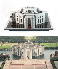 Comparison-South-Face (jj.lego) Tags: bangladesh parliament lego louiskahn brutalism