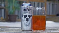 This weekend's featured beer (Stickwork-Steve) Tags: sony sonya7ii sonyfe24240mm beer beercan beerglass canadianbeer lager northernmaverickbrewing