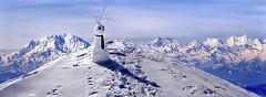 l'uomo delle cime (art & mountains) Tags: alpi alps monterosa mitschabel catena range cime vetta spazio respiro sogno dream hiking salita vedere volare immaginazione bellezza natura silenzio contemplazione vision spirit fun creative poesia smile snowman art