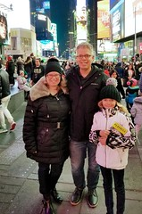 In Times Square (Joe Shlabotnik) Tags: proudparents sue newyorkcity cameraphone nyc manhattan fromdad peter december2018 2018 galaxys8 violet timessquare