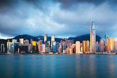 Hong Kong skyline (Patrick Foto ;)) Tags: architecture asia asian background bay beautiful beauty blue building business central china chinese city cityscape cloud cloudy colorful day downtown famous ferry harbor harbour hato holiday hong hongkong international kong landmark landscape metropolis modern morning office panorama peak port scene sea sky skyline skyscraper tower travel urban victoria view water kowloon hk