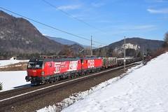 1293 018 + 1293 026, DG 45233, Fürnitz (M. Kolenig) Tags: 1293 rca schnee baum wald