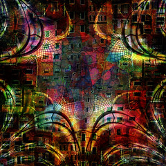 hive mind... (Mark Noack) Tags: light color photoshop layer layering surreal expressionism abstract psychedelic futurist abstraction awardtree shockofthenew