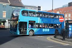 ANE 7528 @ Newcastle-upon-Tyne Eldon Square/Haymarket bus station (ianjpoole) Tags: arriva north east alexander dennis enviro 400 nk14gdf 7528 working sapphire route x21 newcastleupontyne haymarket bus station seacrest road newbigginbythesea
