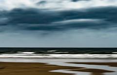 Overcast (judy dean) Tags: judydean 2018 sliderssunday rhossili beach waves clouds surf lensbaby icm