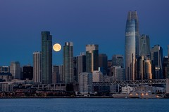 super moon set, San Francisco (gwashley) Tags: california sanfrancisco bay ferry super moon set 2019