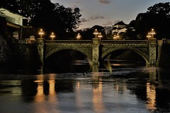 The Imperial Palace (seiji2012) Tags: 東京 皇居 二重橋 ライトアップ 反射 映り込み japan bridge nijyubashi reflection castle illuminate light evening happyplanet asiafavorites