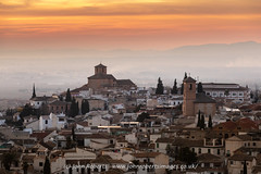 Churches of San Cristóbal & El Salvador and the Albaicín district of Granada Just After Sunset (john@johnrobertsimages.co.uk) Tags: churches humansettlement landscape cristbal church andalusia city outdoor residentialarea albaicn spain roof architecture sacromonte skyline spire urbanarea building sunset old landmark andalucia cityscape evening town granada urban district travel tower house steeple outdoors metropolitanarea salvador