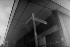 Shepherd street (ontimanyeneng440) Tags: blackandwhite monochrome pentaxmz30 pentax kentmere100 film filmphotography 35mm