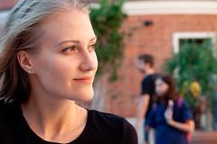 Irina (okhariva) Tags: portrait beautiful closeup girl beautifulgirl blonde browneyes