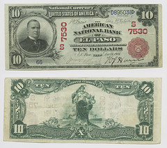United States $10.00 (ten dollars) national currency (SMU Libraries Digital Collections) Tags: texas money national us united states currency paper banks notes note banknote banknotes chartered bank banking elpaso el paso elpasocounty