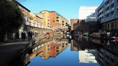 Regent canal Camden Town (serge der) Tags: reflet reflexion canal london londres blue orange boat peniche england ciel sky sunny