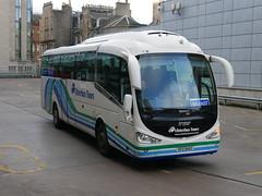 Ulsterbus Scania K360IB4 Irizar i6 SFZ6142 142, in Ulsterbus Tours livery, operating Citylink service 923 to Belfast departing Edinburgh Bus Station on 31 December 2018. (Robin Dickson 1) Tags: ulsterbus busesedinburgh irizari6 scaniak360ib4 sfz6142