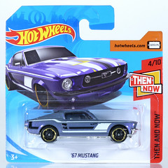 HOT-2018-315-Mustang (adrianz toyz) Tags: hot wheels diecast toy model 164 scale 2018 series ford mustang thenandnow 1967 67