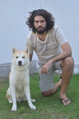 O homem e o lobo (Andréia Solha) Tags: manwithdog man dog homem homemecão cachorro cão husky huskysiberiano