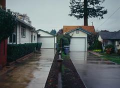 Sunnyvale, California (bior) Tags: pentax645nii pentax645 6x45cm slidefilm mediumformat 120 sunnyvale california suburbs residential ektachrome kodakektachrome e100vs ektachrome100vs expiredfilm house garage fence driveway