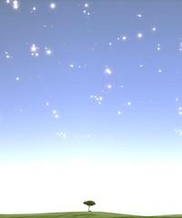 Not Alone (Stachmoon) Tags: alone infernium minimalism tree lone stars horizon video game gaming reshade screenshot digital art sky