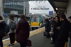 22016+22062 arrive at Tara Street, 28/2/19 (hurricanemk1c) Tags: railways railway train trains irish rail irishrail iarnród éireann iarnródéireann 2019 22000 rotem icr rok 4pce 1653pearsedrogheda tarastreet 22016