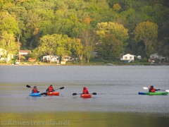 Four Kayaks on the Lake (annestravels2) Tags: kayak honeoyelake newyork boat lake paddle four