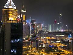 Festive skyline (Jeremy Austin (austinjosa)) Tags: hongkong festiveseason 201819 causewaybay hongkongisland skyscrapers urban lights night nightscape citylife happynewyear excelsiorhotel view