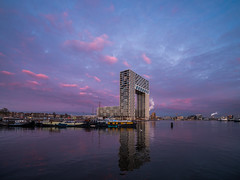 P1030718 (rpajrpaj) Tags: amsterdam cityscape nederland nederlandvandaag netherlands city sunrise bluehour thebluehour