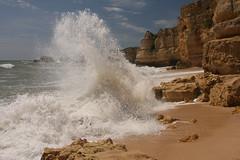 Algarve - Portugal (mariandeneijs) Tags: algarve portugal strand beach praia sand sea ocean golf gulf rock rocks cliff
