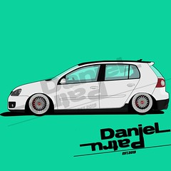 Volkswagen Mk5 (Daniel_Patru) Tags: volkswagen volkswagengolf golf 5 mk5 low bbs rims rs white adobe illustrator car danielpatru artwork paint photoshop