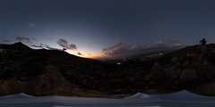 R0011570 (full.moon.for.the.fool.man) Tags: 360 2018 xmass chania thetasc theta ricoh crete greece χανιά κρήτη ελλάδα ηλιοβασίλεμα sunset