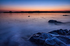 Porth Cwyfan just after sunset (Marcin Frączek) Tags: cwyfan church anlesey porthcwyfan northwales wales rock sunset silhouette longexposure sky beautiful horizon colors