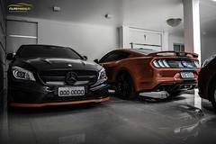 Mustang GT 2018 & CLA45 AMG (Pandolfiphotos) Tags: carros car cars carro brasil autos bmw audi o veiculos instacar a volkswagen chevrolet ferrari ford auto honda motor supercars mercedes rebaixados grandi porsche n luxury moto fixa toyota bhfyp