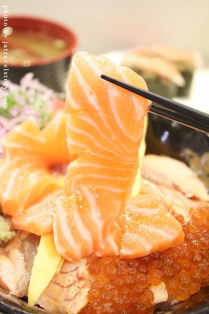 朝鑫壽司 有如玫瑰花綻放的鮭魚親子丼超吸睛!【捷運台電大樓】公館美食/師大美食 @J&A的旅行
