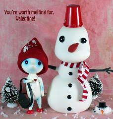 It's gettin' hot in here (bentwhisker) Tags: doll bjd resin valentine anthro aimerai mrsnowman dollchateau snowman 5709