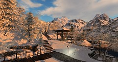 Village of Ahiru (ebcy.clift) Tags: sl secondlife japan medieval snow winter