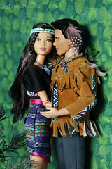the lovebirds (photos4dreams) Tags: barbie toy doll dress kleid kleidung photos4dreams p4d photos4dreamz mattel spielzeug puppe püppchen fashionistas fashionista canoneos5dmark3 indian nativeamerican shania twilight barbies girl play fashion outfit kleider mode puppenstube tabletopphotography vampires vampire meyers wolf wolves tribe indianer jacobblack tattoo eclipse newmoon breakingdawn stepheniemeyer