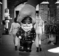 NOPE! Not Today...... (Mr_Camera71) Tags: funny humor gnorman gnome bw black white canon aedimages photoshop compositing