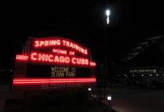 Welcome to Sloan Park (CODA: MARINE 475) Tags: chicago cubs baseball springtraining stadium neon sign night mesa arizona