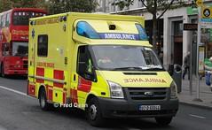 Dublin Fire Brigade Ford Transit (07D60046). (Fred Dean Jnr) Tags: dublinfirebrigade ford transit ambulance 07d60046 oconnellstreetdublin november2013 dfb