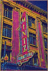 New Orleans  Louisiana  - Hurwitz Mintz Furniture - Old Neon Sign (Onasill ~ Bill Badzo - 62 Million - Thank You) Tags: nol new orleans la louisiana downtown nrhp historic district warehouses neon sign orleanscounty hdr hurwitz mitz furniture lost building gone lostneworleans onasill signs