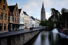 View of a Bruges Canal (See ericgrossphotography.com) Tags: belgium bruges canal captureone tranquil
