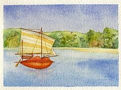 Sailing word 1 (Pax30091) Tags: arches aquarelle acuarela words sailing postcard