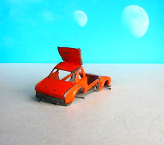 Matchbox SuperFast Toys No. 45 BMW 5.0 CSL 1976 Broken Up For Art Piece : Diorama Futuristic Double Moon - 3 Of 6 (Kelvin64) Tags: matchbox superfast toys no 45 bmw 50 csl 1976 broken up for art piece diorama futuristic double moon