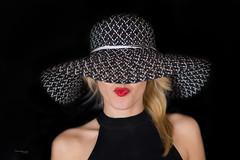 Shy blonde (piotr_szymanek) Tags: ania aniaz portrait studio face hat lips nobra blonde longhair woman young skinny 1k 20f 5k 50f 10k 100f 20k 30k