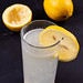 Refreshing Lemonade in the glass