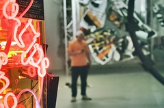 (youngkurama) Tags: themarguliescollection thewarehouse miami florida art exhibitions photography gallery wynwood artdistrict film 35mm canon canonrebel february 2019 life traveling shooters neon lights lighting gralt portrait onlyny nike indoors