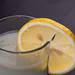 Refreshing Lemonade in the glass with Lemon