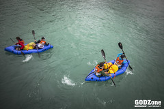 Pack rafting Lyttleton Harbour